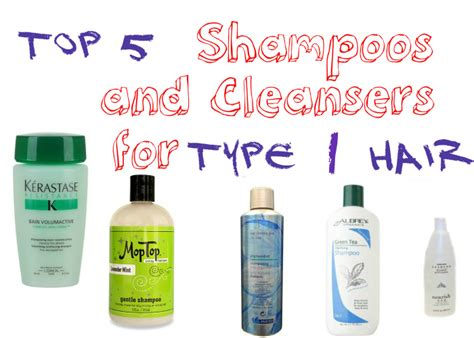 Types Of Hair Products For by Top 5 Shoos And Cleansers For Type 1 Hair How To Make