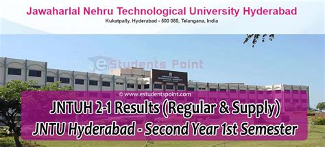Jntuh Results Mba R15 by Jntuh 2 1 Results 2018 Regular Supply For R16 R15 R13