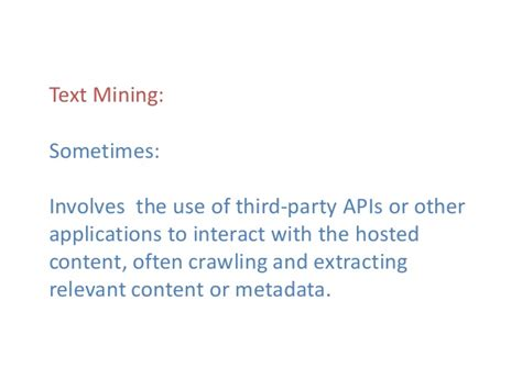 Text Mining Research Papers 2015 by November 18 2015 Niso Webinar Text Mining Digging For Knowled