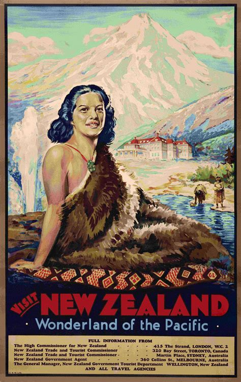 poster design nz selling the dream the art of early new zealand tourism