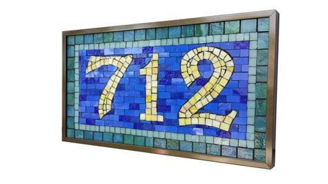 mosaic numbers pattern 17 best images about mosaic house numbers on pinterest