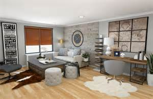 design living room online before after modern rustic living room design online