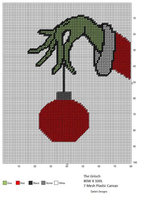 christmas needlepoint pattern the grinch stealing a bauble from the tree needlepoint