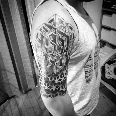 geometric tattoo washington dc cool geometric arm half sleeve tattoo design ideas for