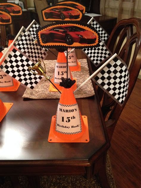 racing car centerpieces decorations