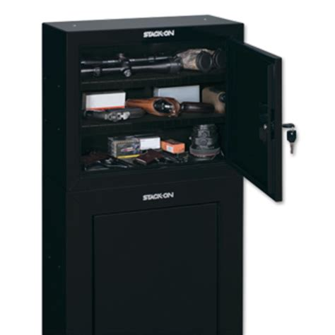 stack on gcb 900 pistol ammo cabinet w 2 shelves black