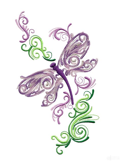 embroidery design dragonfly full wing fanciful dragonfly embroidery design