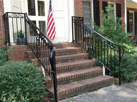 Iron Porch Railing Chicago Il Custom Wrought Iron Railings Raleigh Wrought