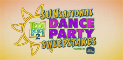 Www Disney Channel Com Sweepstakes - disney channel teen beach 2 sunsational dance party sweepstakes disneychannel com beach