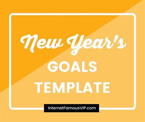 new years goals template 28 images new years goals