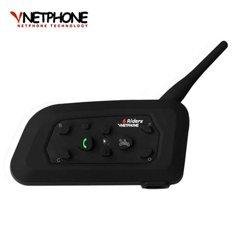 Motorcycle Helmet Bluetooth Interphone Headset 1200 Meter V6 1200 2016 new motorcycle accessories v6 helmet intercom speaker 1200m 6 riders bluetooth interphone