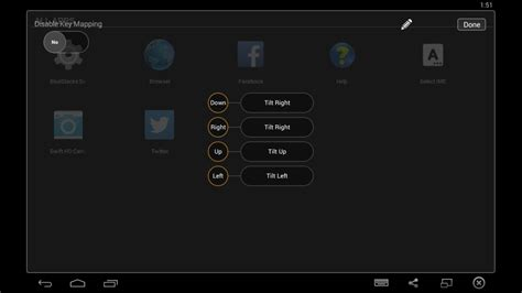 bluestacks rotate screen applications tilt left and right is not working in