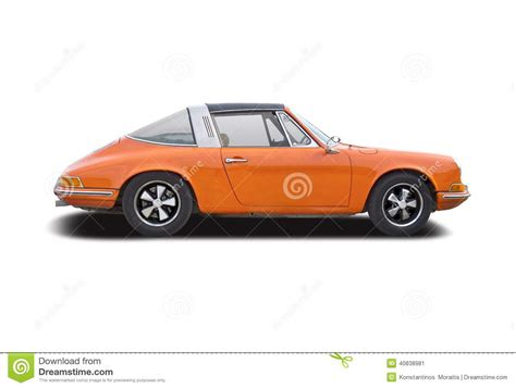 orange porsche targa old classic car porsche 911 targa editorial photo image