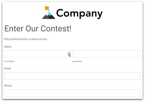 How Online Forms Can Increase Productivity 183 Formstack Blog Contest Entry Form Template