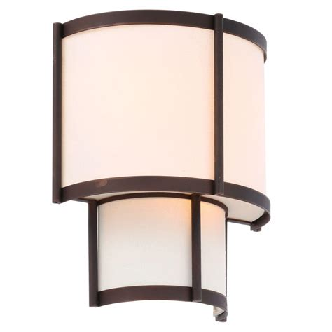 Outdoor Lighting Edmonton World Imports Edmonton Collection 3 Light Bronze Sconce Wi143129 The Home Depot