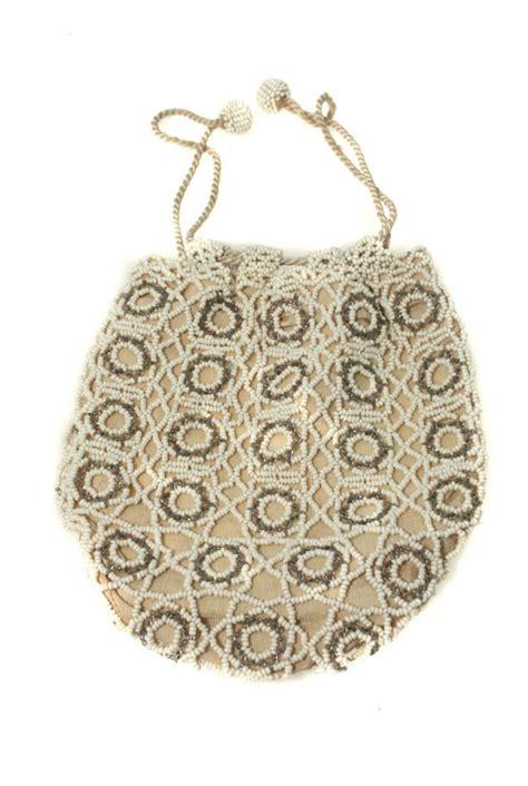 vintage beaded handbags vintage beaded bag flapper handbag white bead purse
