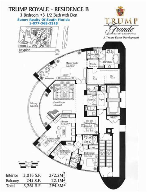 the trumps floor plan floor plans