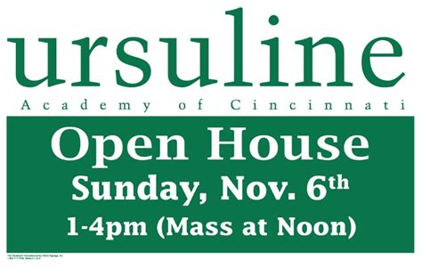 Ur Mba Open House by Open House Ursuline Academy