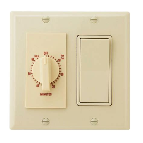 bathroom fan timer switch home depot broan nutone 60 minute in wall dial timer with rocker