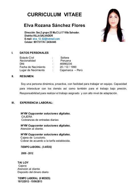 Modelo De Curriculum Vitae Simple En Word Peru Curriculum Vitaee Rosy