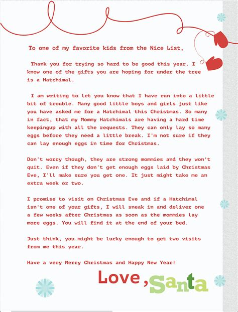 free printable santa letters christmas morning can t find a hatchimal feel great in 8 blog