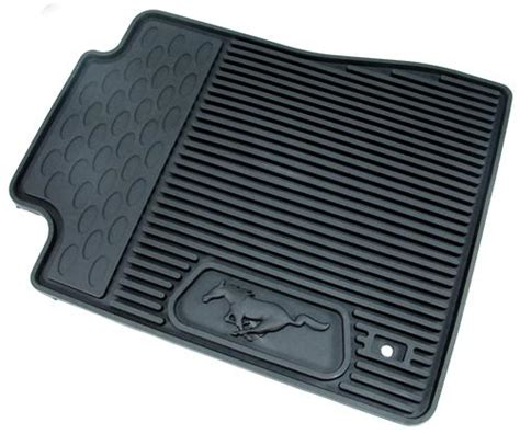 Rubber Mustang Floor Mats mustang rubber floor mats with pony logo 05 09 6r3z 6313300 a