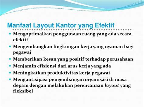 Manfaat Layout Kantor | materi layout i