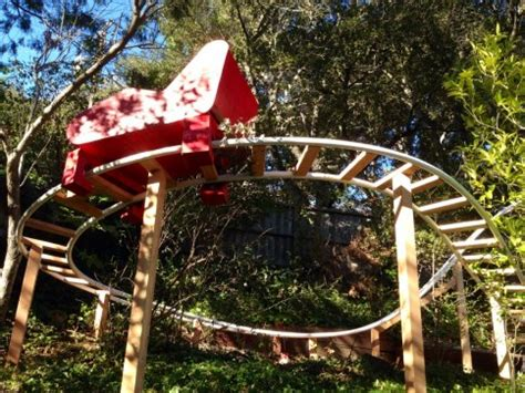 roller coaster in the backyard bay area dad makes son s dream come true builds backyard