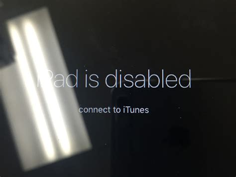 unlocking is disabled connect to itunes message p t it computer repair