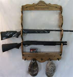 rifle wall mount gun rack display by