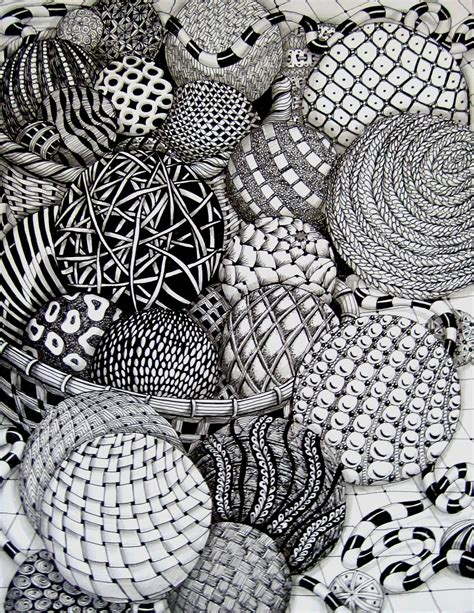 pattern drawing pdf zentangle balls by missyliss create doodles