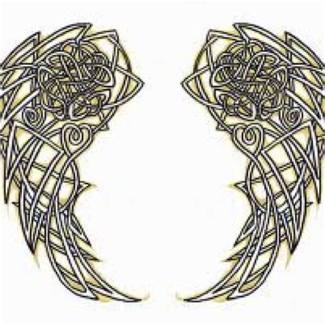 tattoo celtic angel wings tattoo thoughts pinterest