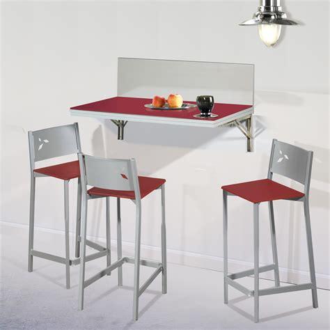 mesa y taburetes de cocina pack ahorro en mesa de cocina de pared con dos taburetes