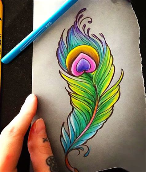 peacock feather tattoos designs 25 colorful peacock feather tattoos
