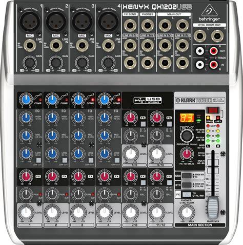 Mixer Behringer Usb behringer xenyx qx1202usb 12 input pa mixer w usb pssl