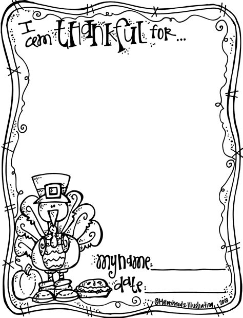 melonheadz thanksgiving coloring freebie