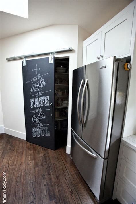 Pantry Barn Doors by Kitchen Pantry With Sliding Barn Door Traditional