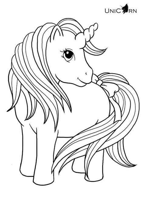 unicorn pony coloring pages unicorn a really cute girl unicorn coloring page my
