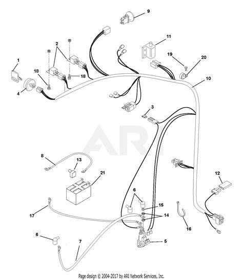 ariens    zoom xl  hp kohler courage twin  mower parts diagram