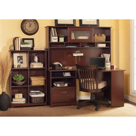 Cherry Corner Desk With Hutch Cabot Harvest Cherry Corner Desk With Hutch And Bookcase Rcwilley Image1 800 Jpg