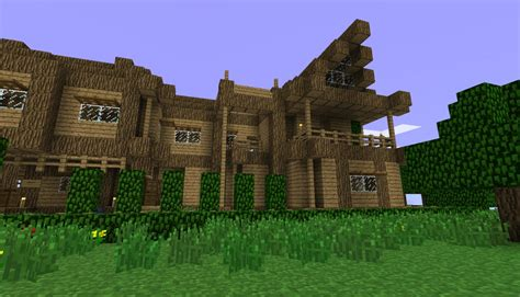 wooden house in minecraft not so small wooden house minecraft project