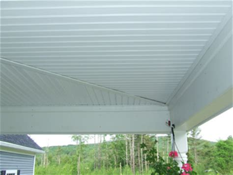 Outdoor Beadboard Ceiling Panels by Using Vinyl Beadboard Soffit For Porch Ceilings