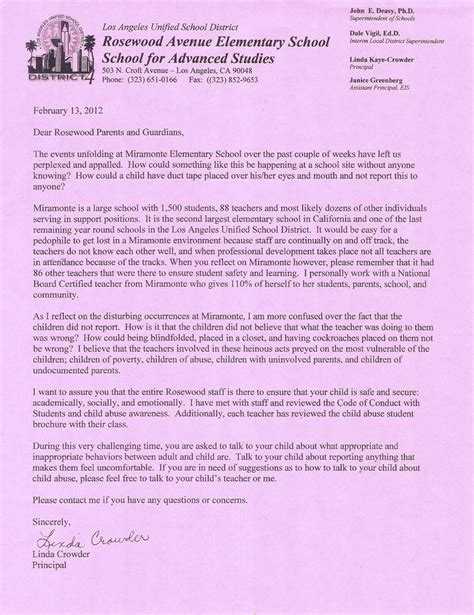 Parent Thank You Letter To Principal Thank You Letter From Parent To Principal Just B Cause