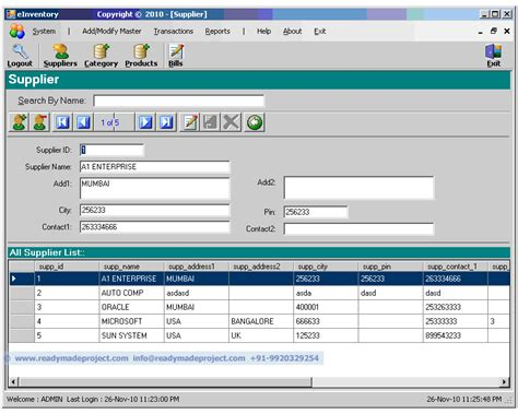 Project On Inventory Management For Mba Students by Free Project Abstract View Demo Of Mca