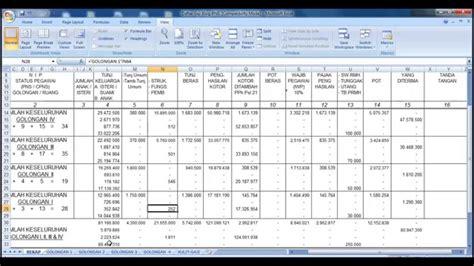 format rincian gaji pns cara menghitung gaji pns menggunakan excel youtube