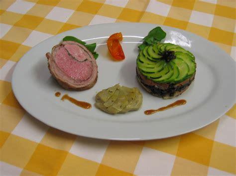 chartreuse cuisine noisettes d agneau chartreuse de courgette artichaut