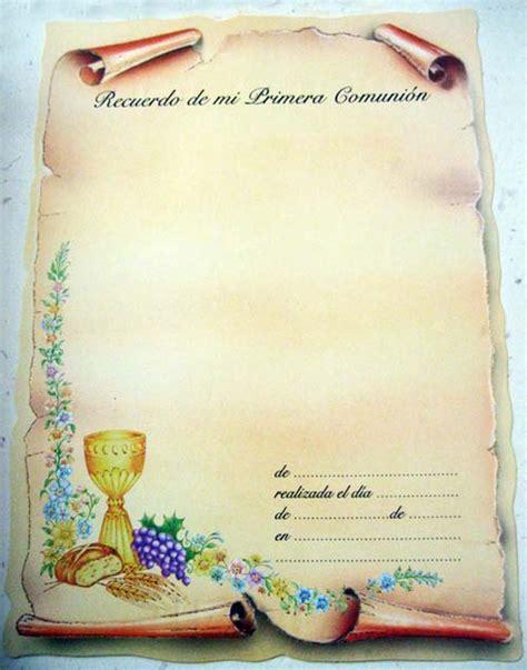 imagenes diplomas primera comunion estitas de comuni 243 n x 25 unid