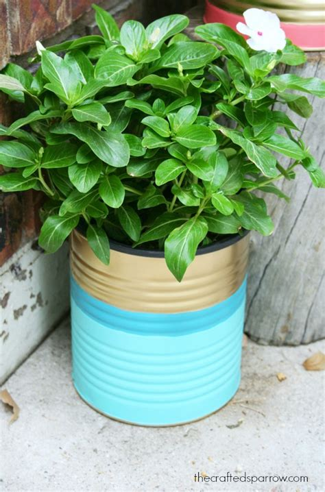 Painted Planters by Painted Tin Can Planters