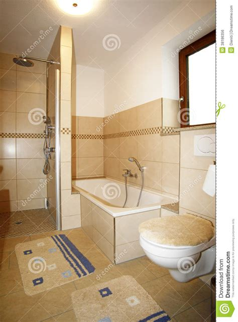 latest bathroom colours new bathroom in beige brown colours royalty free stock