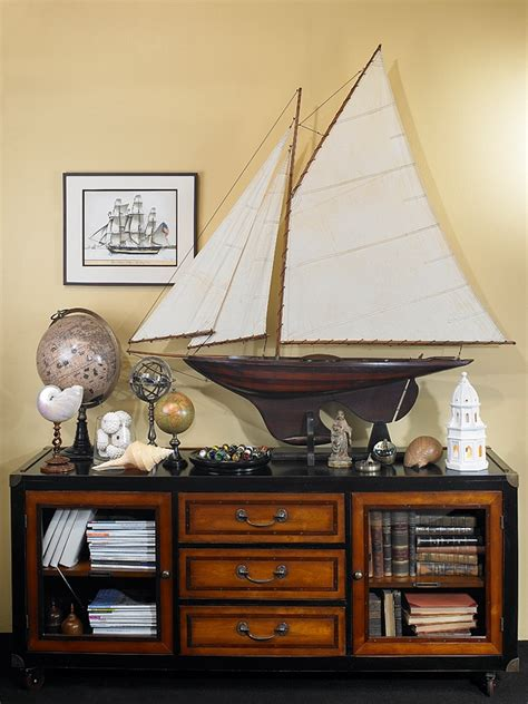 Handcrafted Decor - combining some of the nautical decor elements and ship